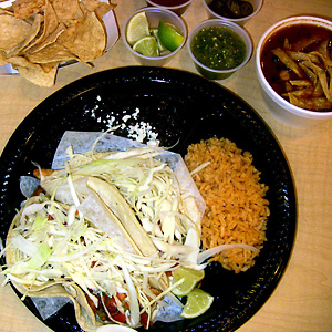 Fish tacos at Bazo's