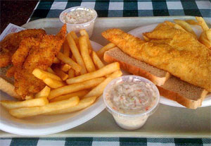 Scrod and Haddock sandwiches