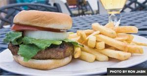 photo: cheeseburger platter