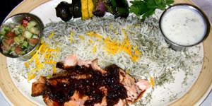 Salmon at Caspian Grill