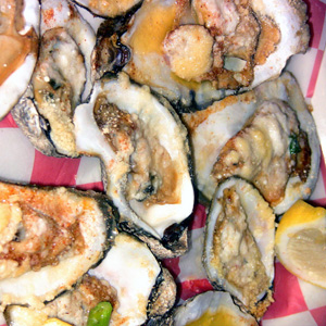 Baked oysters at Furlongs