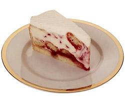 Lemon-raspberry cheesecake