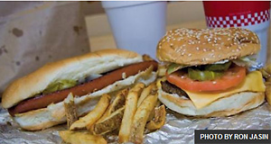 Five Guys dog and burger