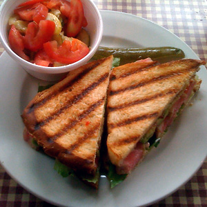 Napa Tuna Sandwich at Meridian Cafe