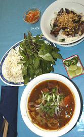 Dishes at Pho Binh Minh