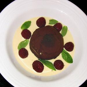 Molten chocolate torte