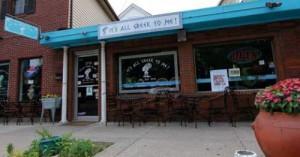 Storefront of restaurant