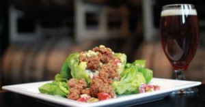 salad with chicken livers