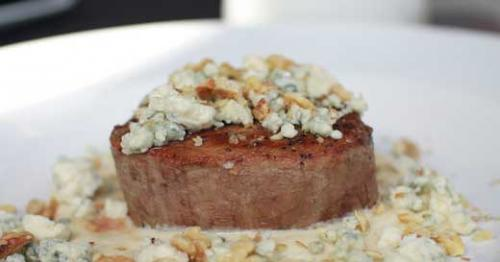 Gorgonzola filet at DiFabio's. LEO photo by Ron Jasin.