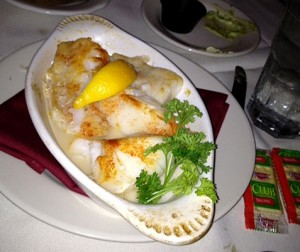 Baked scrod at John E's