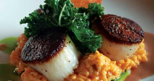 Scallops at Lilly's. LEO photo by M.A. Buckner