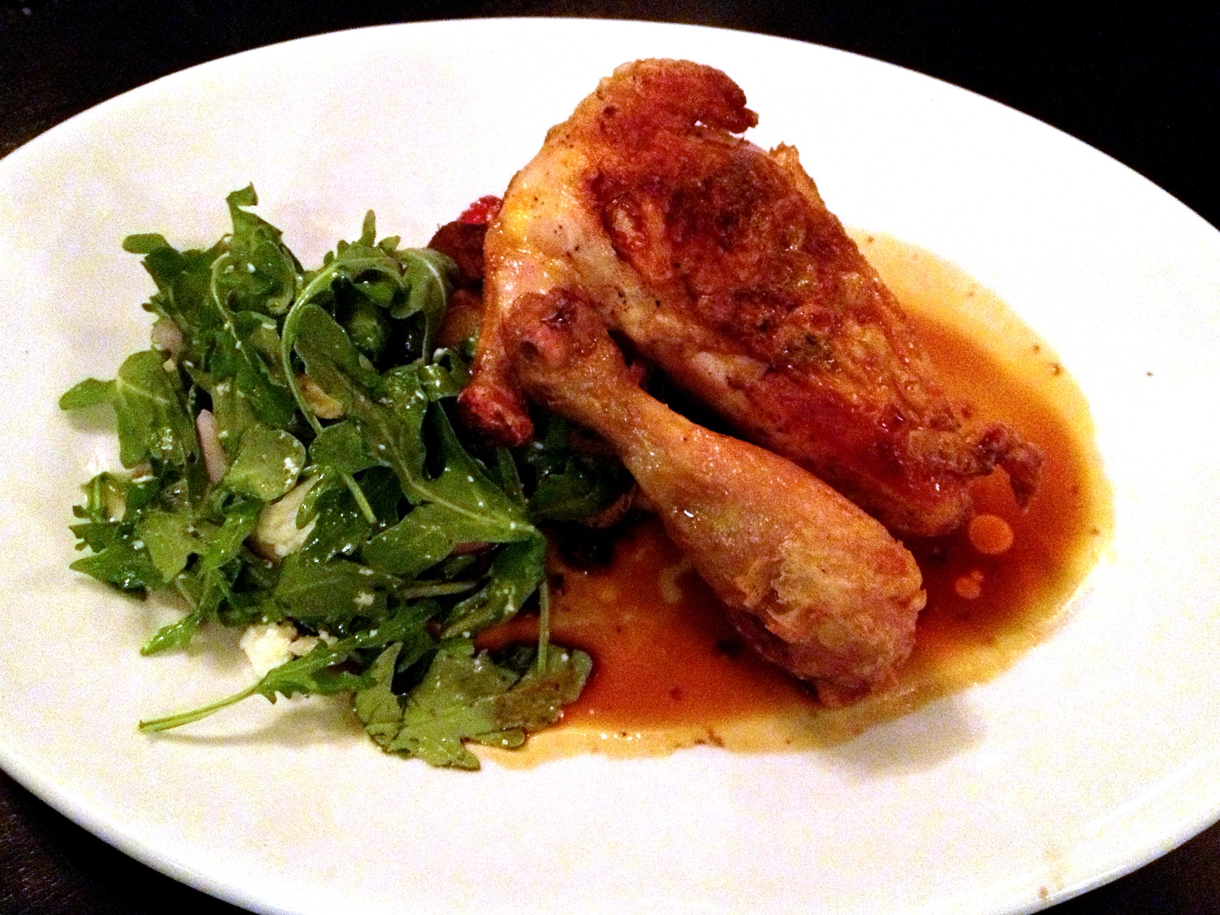 Roast chicken at St. Charles Exchange