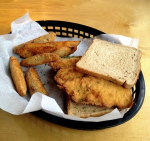 Fried scrod on rye at Fish-Fry House.