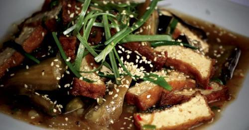 Saigon Cafe's eggplant and tofu. LEO photo by M. A. Buckner.