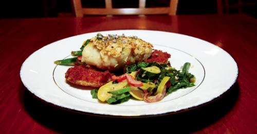 Almond Crusted Corvina at Equus. LEO photo by Ron Jasin
