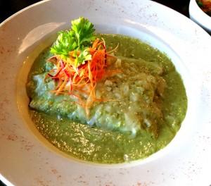 Texas enchilada with salsa verde at Hay!! Chi Wa Waa
