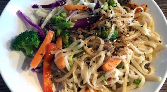 Indonesian peanut saute at Noodles & Company