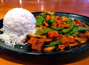 The build-your-own stir-fry at Yang Kee Noodle