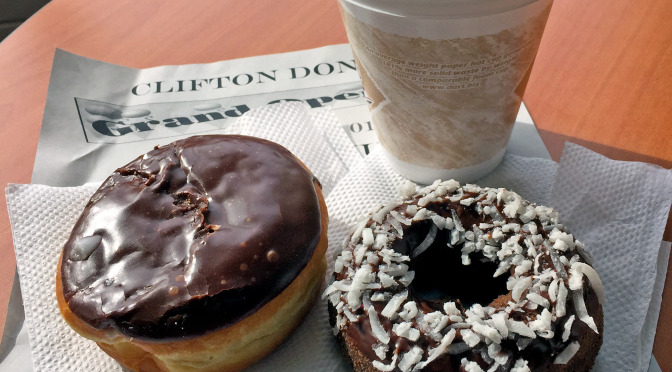 Donuts and coffee at Clifton Donuts