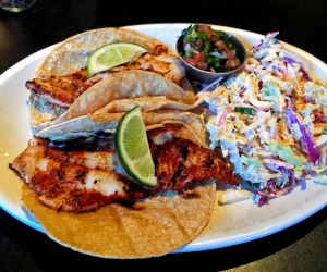 Blackened fish tacos at Uptown Cafe.