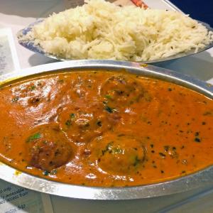 "Malai Kofta veggie ""meatballs"" at Kashmir"
