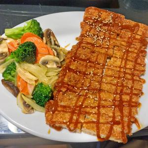 Tonkatsu pork at Asahi Japanese.