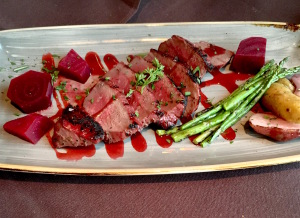 La Chasse's wood-grilled elk tenderloin.