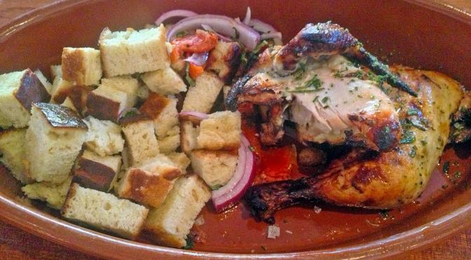 Pollo Arrosto, the half roast chicken at Mercato.
