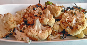 Roasted cauliflower at Brooklyn and the Butcher.
