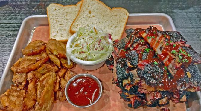 The American Royal ribs at Fieri's Smokehouse.