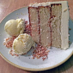 Red Barn Kitchen's coconut cream cake.