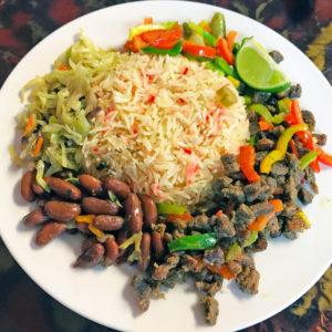 "Safari Grill's suqaar, East African ""beef bites."""