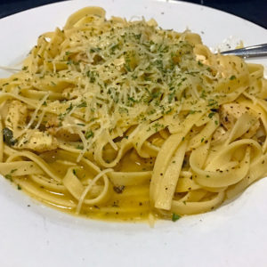 Loui Loui's lemon-pepper chicken pasta.