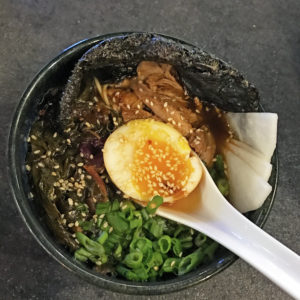 Mirin's  shoyu ramen with roasted duck.