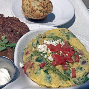 Wild Eggs' Jimmy the Greek frittata.