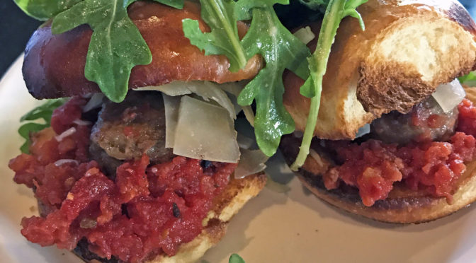 Cuvée Wine Table's Kentucky lamb sliders.