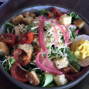 Morels Cafe's' Jeff Salad, a meal-size chef's salad.