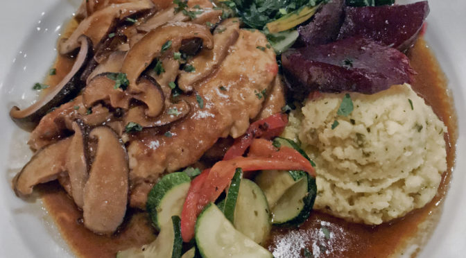 Chicken marsala at Volare.