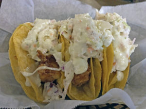 Hull & High Water's Baja-style fish tacos.