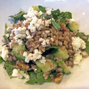 farro and arugula salad at Sarino
