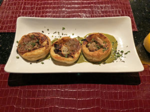 Marketplace's puff pastry tartlets filled with wild mushrooms.