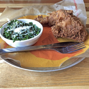 Joella's Southern-style fried chicken is mild and crusty, without the Nashville heat.