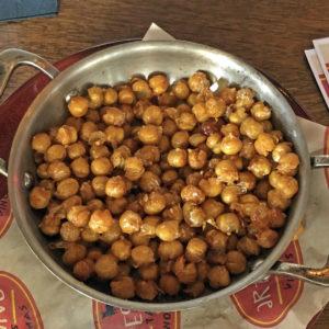 "Addictive garbanzo ""popcorn"" on Artesano's happy-hour menu."