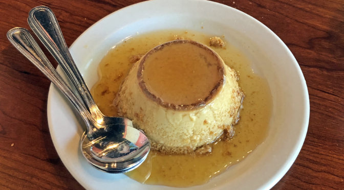 Cancun's flan is so good that it tempts us to have dessert first.
