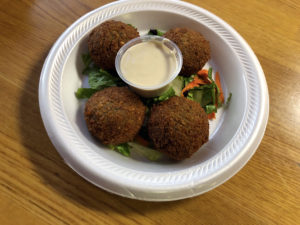 Addis also serves Mediterranean fare like these spicy falafels.