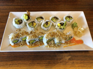 Makizushi rolls at Dragon King's Daughter.
