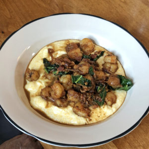 Portage House tweaks the local classic dish as shrimp and polenta.