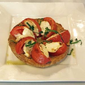 Brasserie Provence's tomato goat cheese tart appetizer.