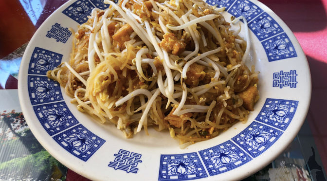 The textures of rice noodles and bean sprouts play off each other in Mai's Thai's first-rate Pad Thai.
