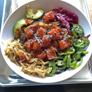 CoreLife's tuna poke fire rice bowl.